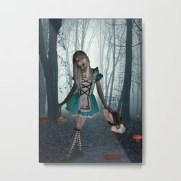 Alice in Zombieland Metal Print