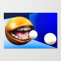 pacman Canvas Prints featuring PacMan by Joshua A. Biron