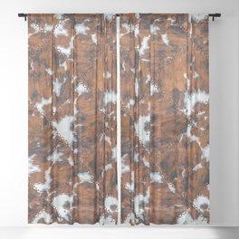 Glamorous Cowhide Closeup Texture [v.2021] Sheer Curtain