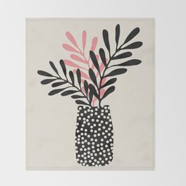 Still Life with Vase and Three Branches Throw Blanket