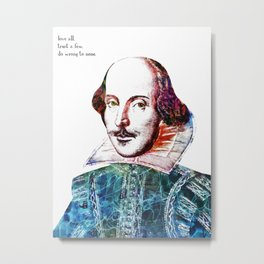 Graffitied Shakespeare Metal Print