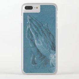 Praying Hands by Albrecht Dürer Clear iPhone Case