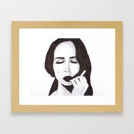 Lana in ink Framed Art Print