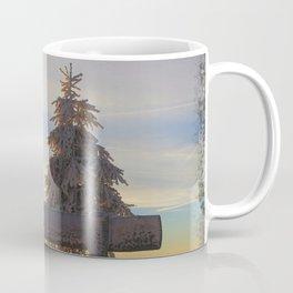 Rise up and Pray Verse Quote Snow Sunrise Coffee Mug