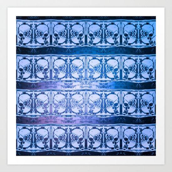 Ice Sword Skulls Art Print