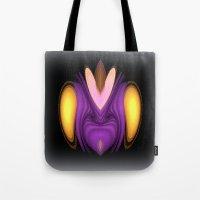 alien Tote Bags featuring Alien by Chris' Landscape Images & Designs