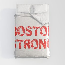Support BOSTON STRONG Red Grunge Comforters