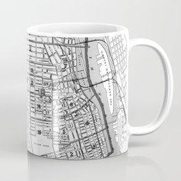 Vintage Map of Albany NY (1895) BW Coffee Mug