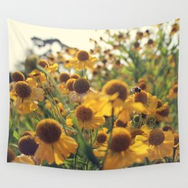 Yellow Bee Wall Tapestry