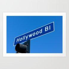 hollywood blvd sign Art Print