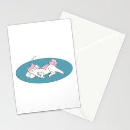 Mina Pompon sleeps Stationery Cards