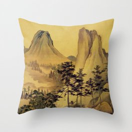 12000 steps - the Pilgrimage Throw Pillow