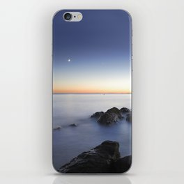 Venus and the moon over the sea  iPhone Skin