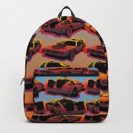 Delorean Time Machine Pop Art Backpack