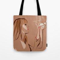 ursula Tote Bags featuring Ursula by Elena Medero