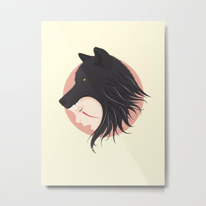 Boy Cries Wolf Metal Print