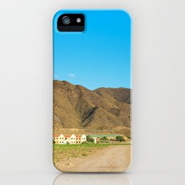 Landscape desert in Almeria, Andalusia, Spain iPhone Case