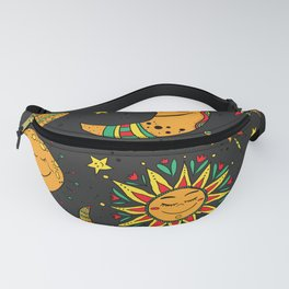 Moon, sun and stars pattern Fanny Pack