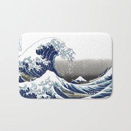 Vintage Great Waves at Kanagawa by Hokusai Bath Mat
