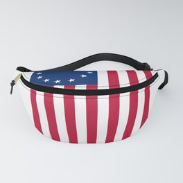 Vertical Betsy Ross Flag print Fanny Pack
