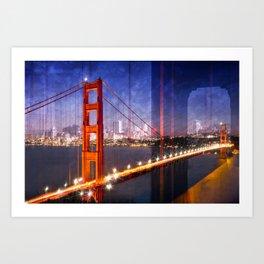 City Art Golden Gate Bridge Composing Art Print