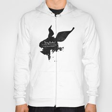 I'm late! – White Rabbit Silhouette Quote Hoody