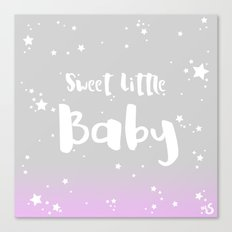 Sweet Little Baby - Pink Canvas Print