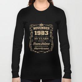 November 1983 Sunshine mixed Hurricane Long Sleeve T-shirt
