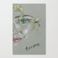 river song Canvas Prints featuring River Song by Alysia Grudier