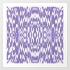 Ikat: Lavender  Art Print