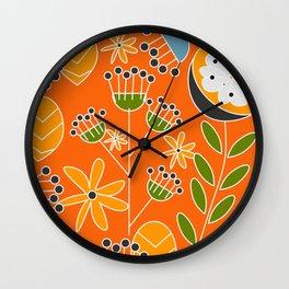 Sunny floral decor Wall Clock