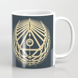Radiant Abundance (grey-gold) Coffee Mug