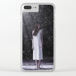 Do not be afraid of the cold wind in your sleep Clear iPhone Case
