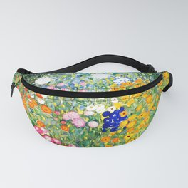 Flower Garden by Gustav Klimt vibrant Fanny Pack