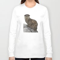 otter Long Sleeve T-shirts featuring Otter by ZHField