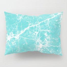 Aqua white modern stylish marble Pillow Sham