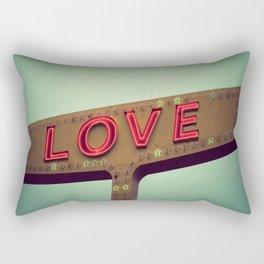 Love Signs Rectangular Pillow