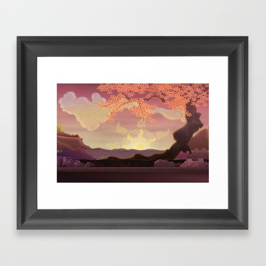Chinese landscape Framed Art Print