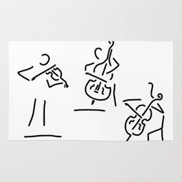violinist cellist string player contrabass Rug