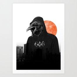 The Satanic Metal Crow Art Print