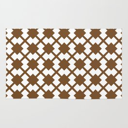 Chocolate Brown:  Pattern No. 1 Rug