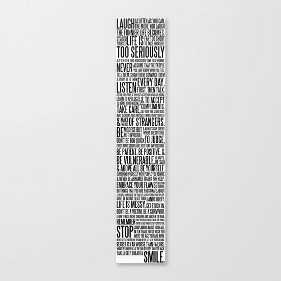 The AMS Manifesto - B&W Canvas Print