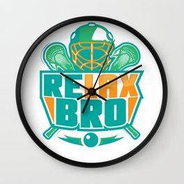 Relax Bro - Lacrosse Wall Clock