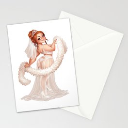 Helena Handbasket sexy bride Stationery Cards
