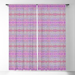 Pink Ice Abstract Watercolor Blackout Curtain