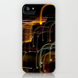 Lights, Action, Moon iPhone Case