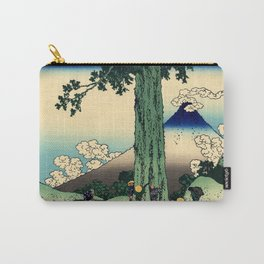 """Hokusai (1760–1849) """"Mishima Pass in Kai Province"""" Carry-All Pouch"""