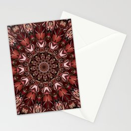 Neat and tidy mandala with fiery colors Stationery Cards