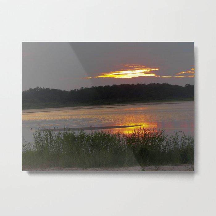 Sunset Reflection Metal Print