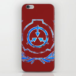 SCP foundation blue crest symbol iPhone Skin